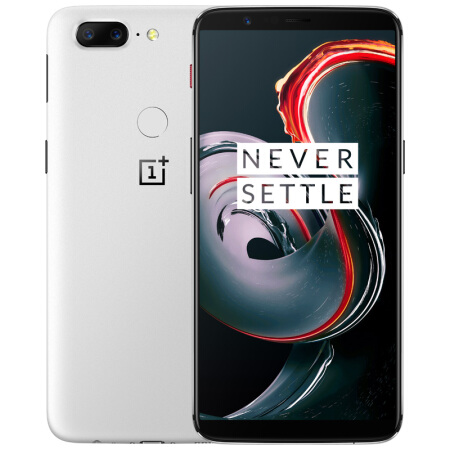 "OnePlus 5T 4G 6"" FHD 2160x1080 AMOLED Android - Sandhvit"