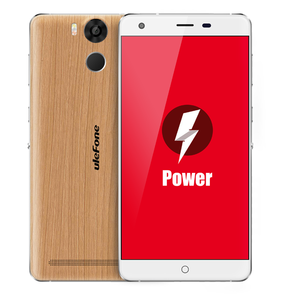 "Ulefone Power 4G LTE 5.5"" FHD 1920x1080 LPTS Android - Wood"