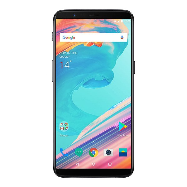 "OnePlus 5T 4G 6"" FHD 2160x1080 AMOLED Android - Gråsort"