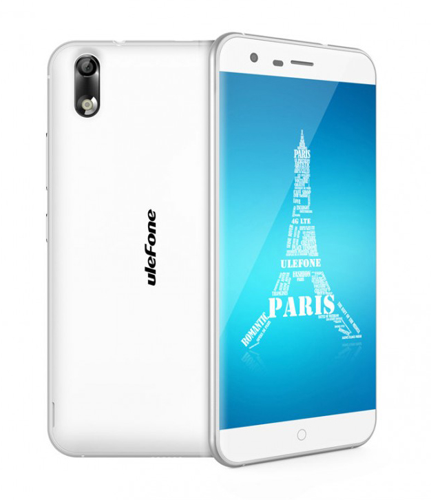 "Ulefone Paris 4G LTE 5"" HD 1280x720 IPS Android - Hvit"