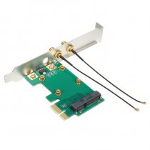 Iwill mini PCI-E to PCI-E 1X m/2 x antenner