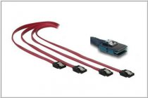 SAS Kabel SFF 8087 til 4x SATA Host to Backplane 0,75cm